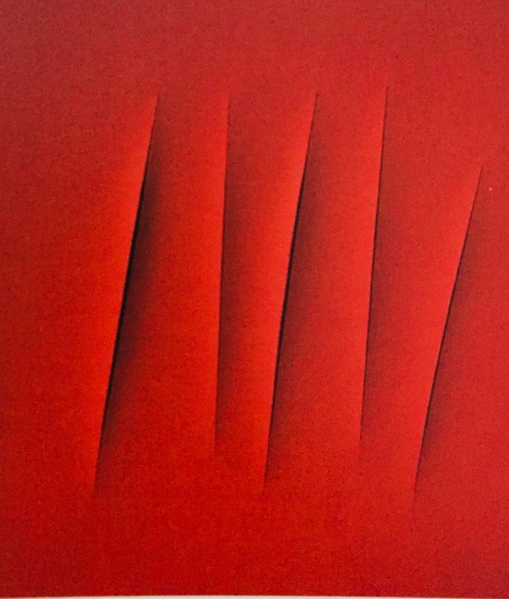 Lucio Fontana, Spatial Concept-Wait, 1964