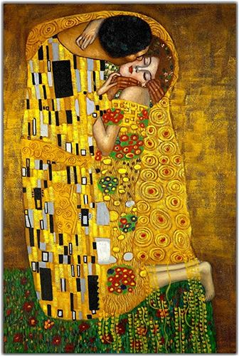 Gustav Klimt, 'The Kiss', 1907-1908